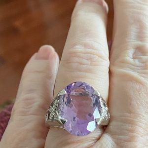 10k WG Amethyst Ring